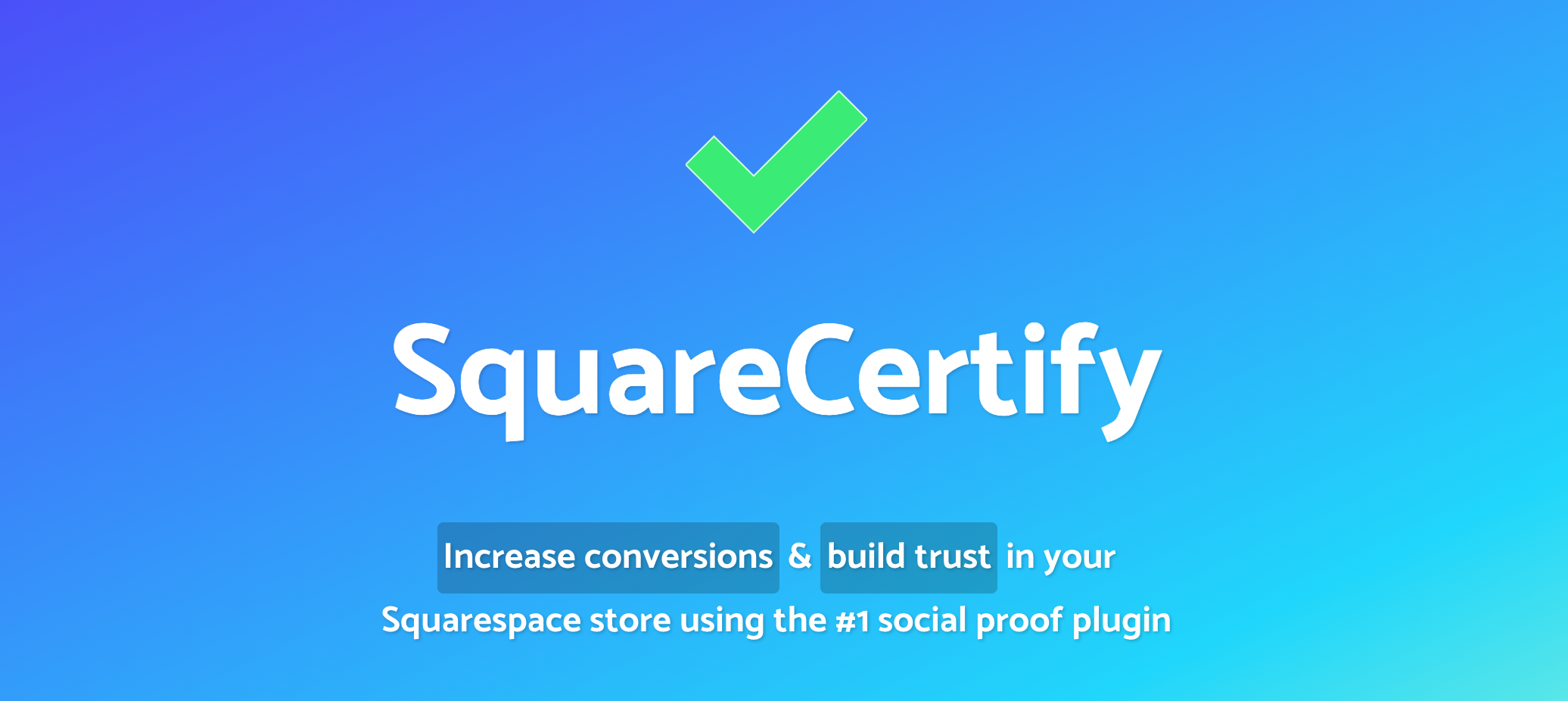SquareCertify social proof widget